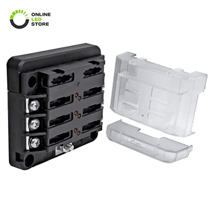 6-way 100a modular fuse box [expandable to 12 power and 12 ground]