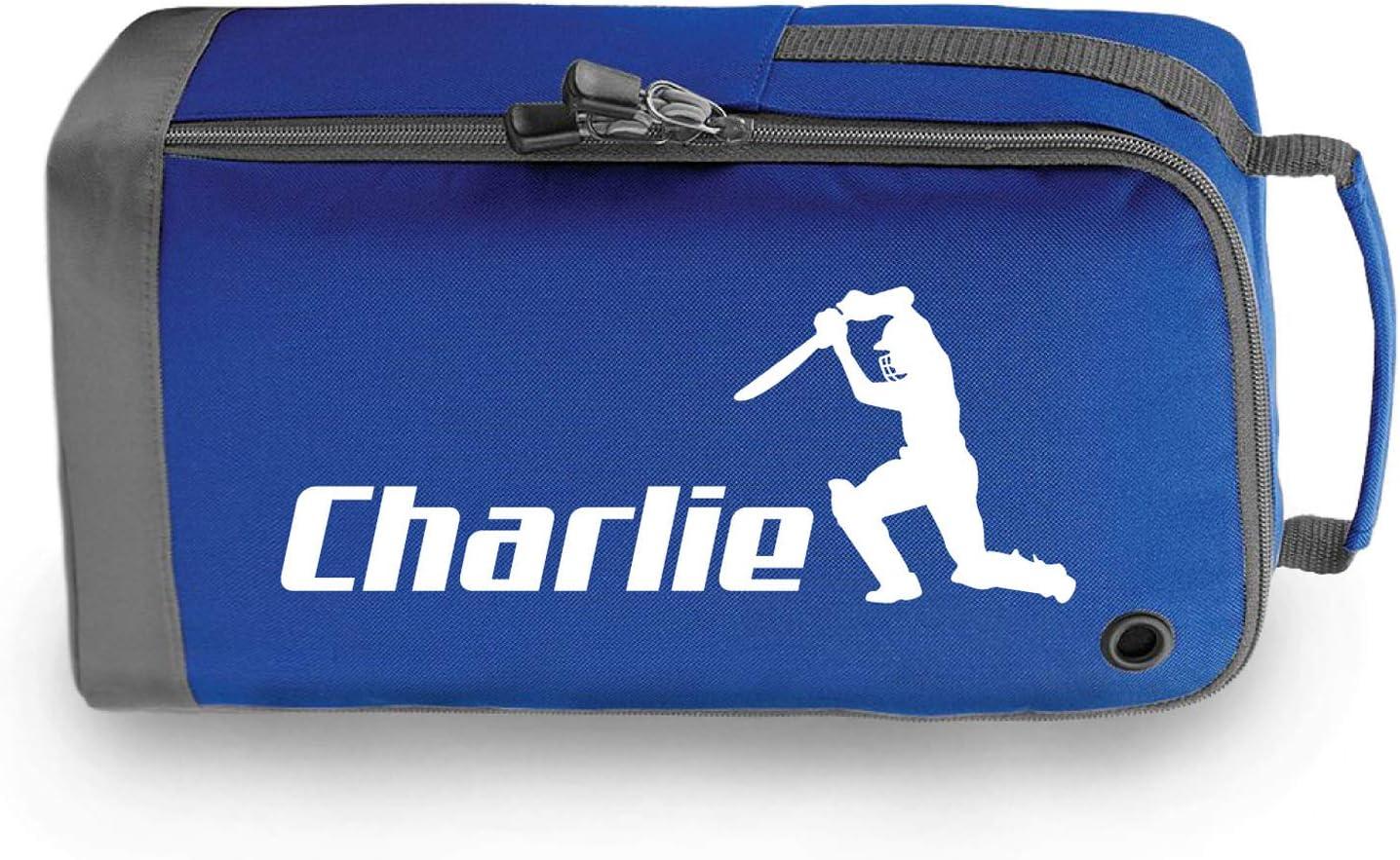 Sportees Personalised Cricket Boot Bag Boys Girls Cricket Gift Customised Shoe Bag Choose Any Name Cricket Gift Boot Bags girls boot bag Sports Bag