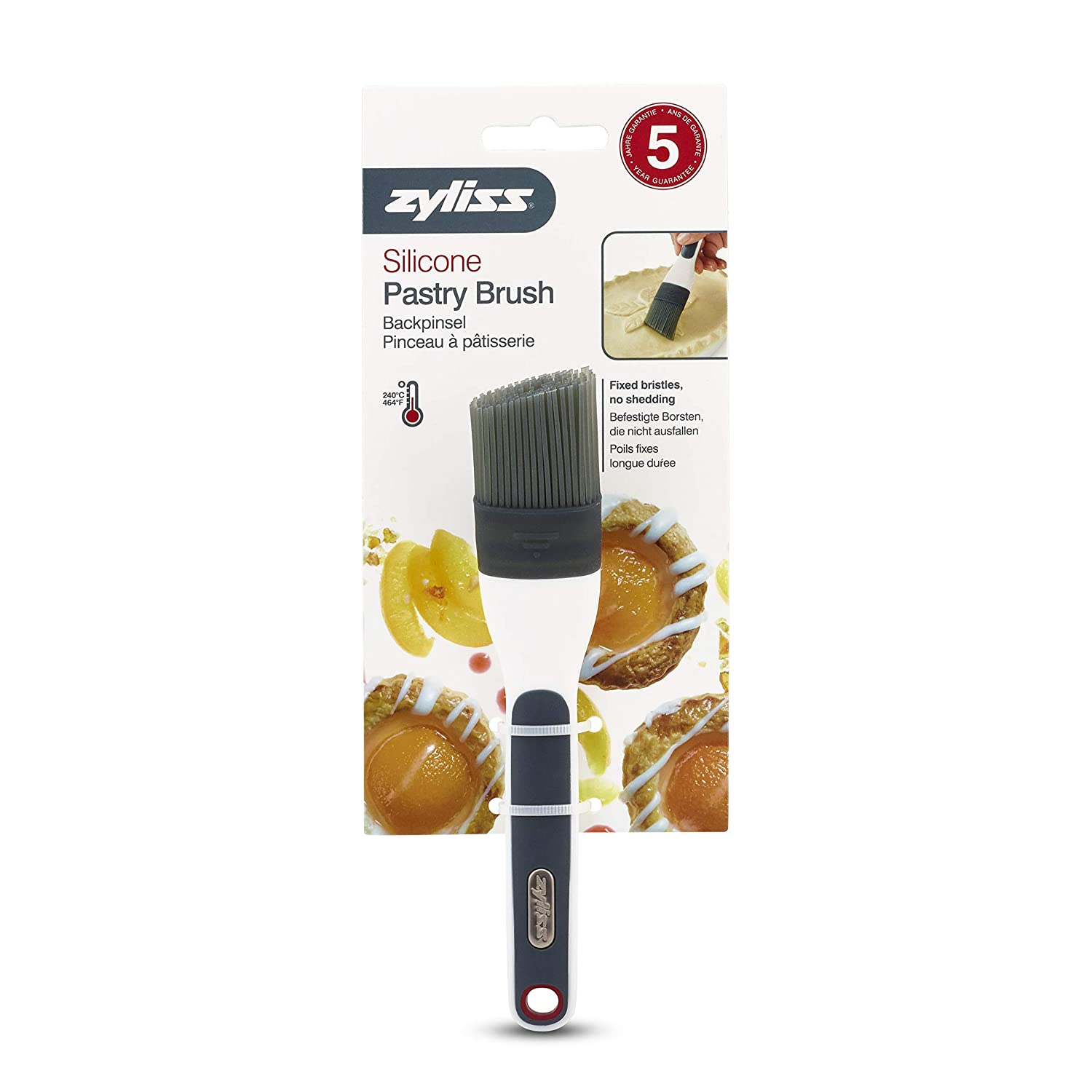 White Zyliss Silicone Pastry Brush