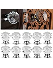Home Improvement Discreet Furniture Accessories 40mm Clear Crystal Glass Diamond Cut Door Knobs Kitchen Cabinet Drawer Knobs+screw Home Decorating