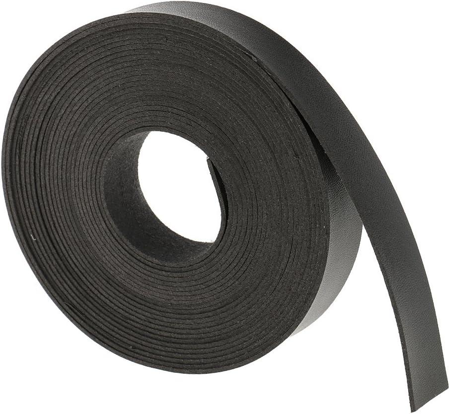 MagiDeal 5M Correas de Cuero DIY Tiras para Artesanías de Costura 2cm de Ancho Accesorios de Leathecraft - Negro