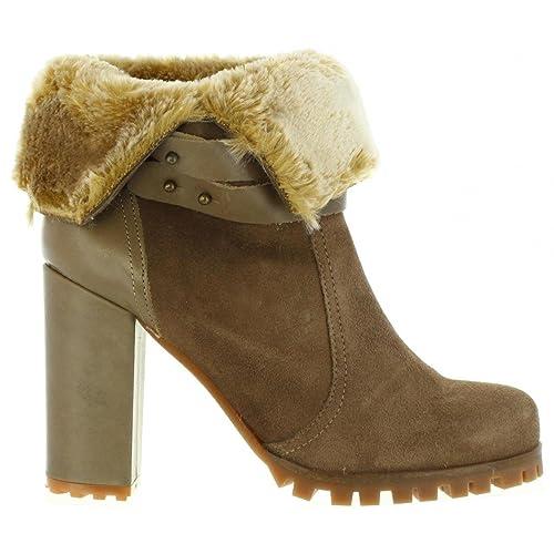 MTNG Botines de Mujer 93460 C12432 Serraje Lodo Talla 41: Amazon.es: Zapatos y complementos