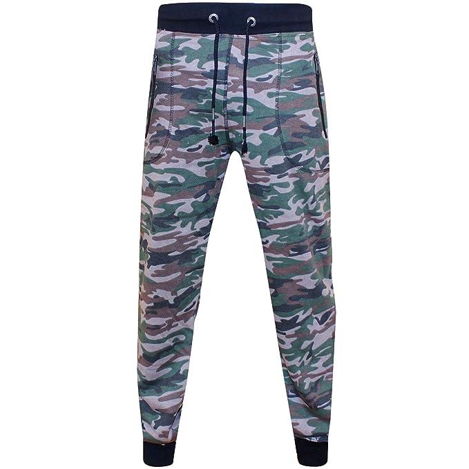 dab651da24 Zara Mens Brand CAMO Skinny Jogging Bottoms Slim FIT Joggers Fleece ...