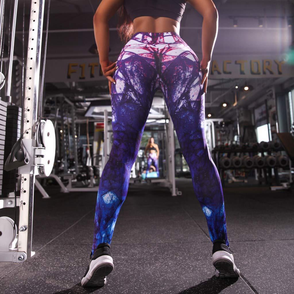 LMRYJQ Pantalones de Yoga Mujeres Deportes Damas Leggings ...