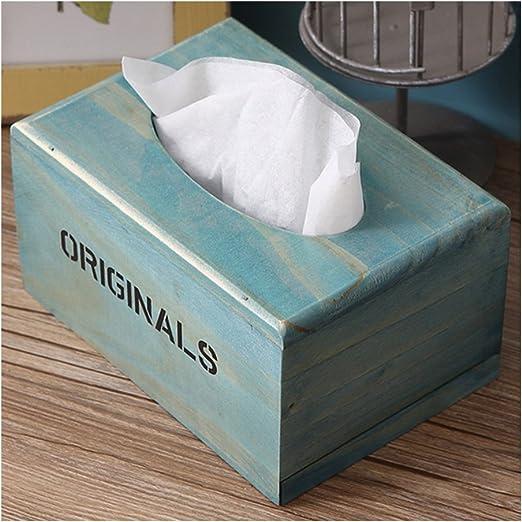 Desconocido Caja de Pañuelos de Papel Caja para Pañuelos de Color Azul: Amazon.es: Hogar