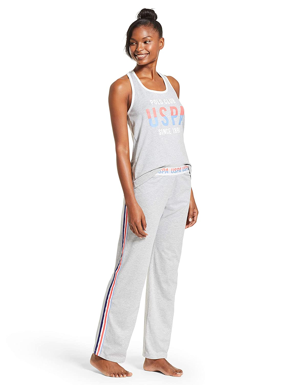 U.S. Polo Assn. Womens Racerback Tank Top and Pajama Pants Lounge ...