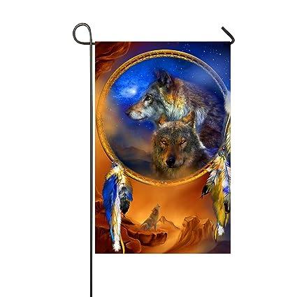 Amazon.com: XASFF Mystery Wolf Garden Flag Decorative ...