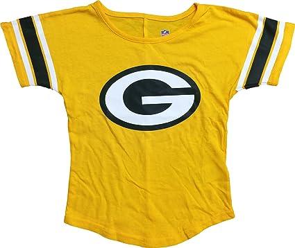 e5bf9cf9 Amazon.com: Green Bay Packers Primary Logo Yellow Kids T-Shirt (Kids ...