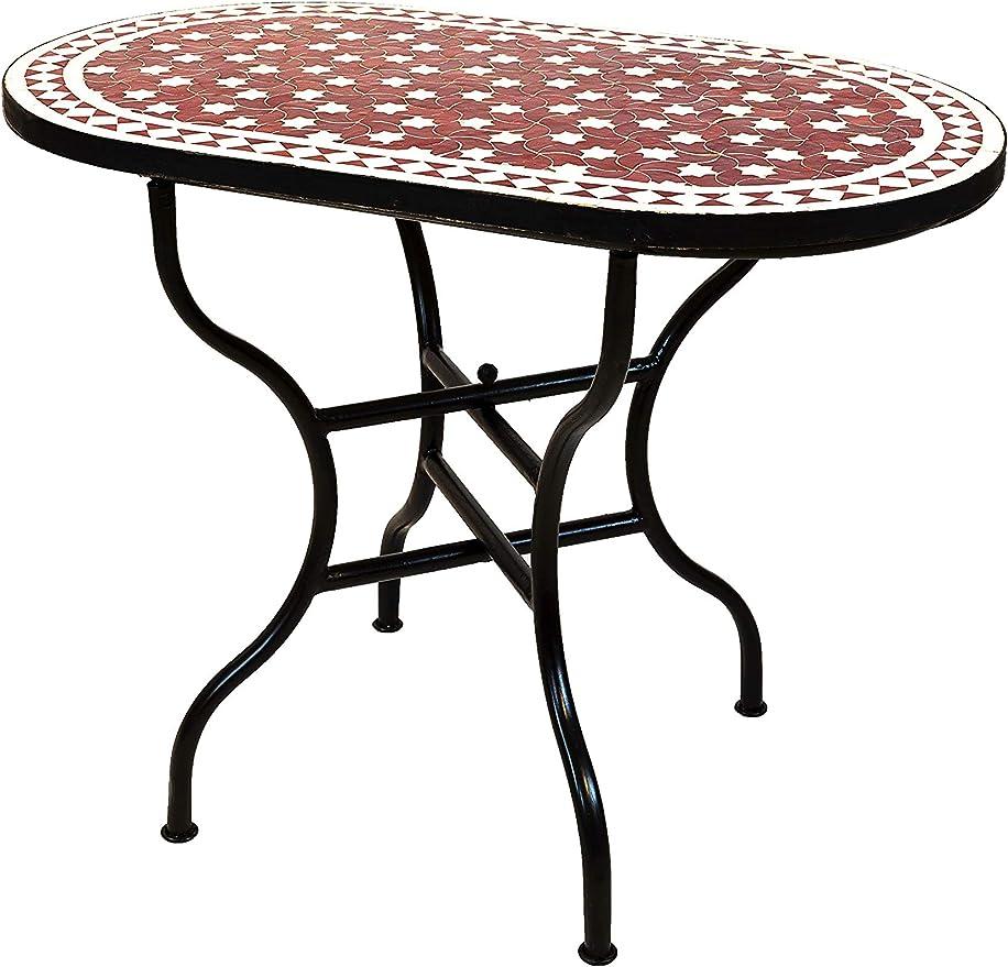 Table de jardin en mosaïque marocain rectangulaire ...