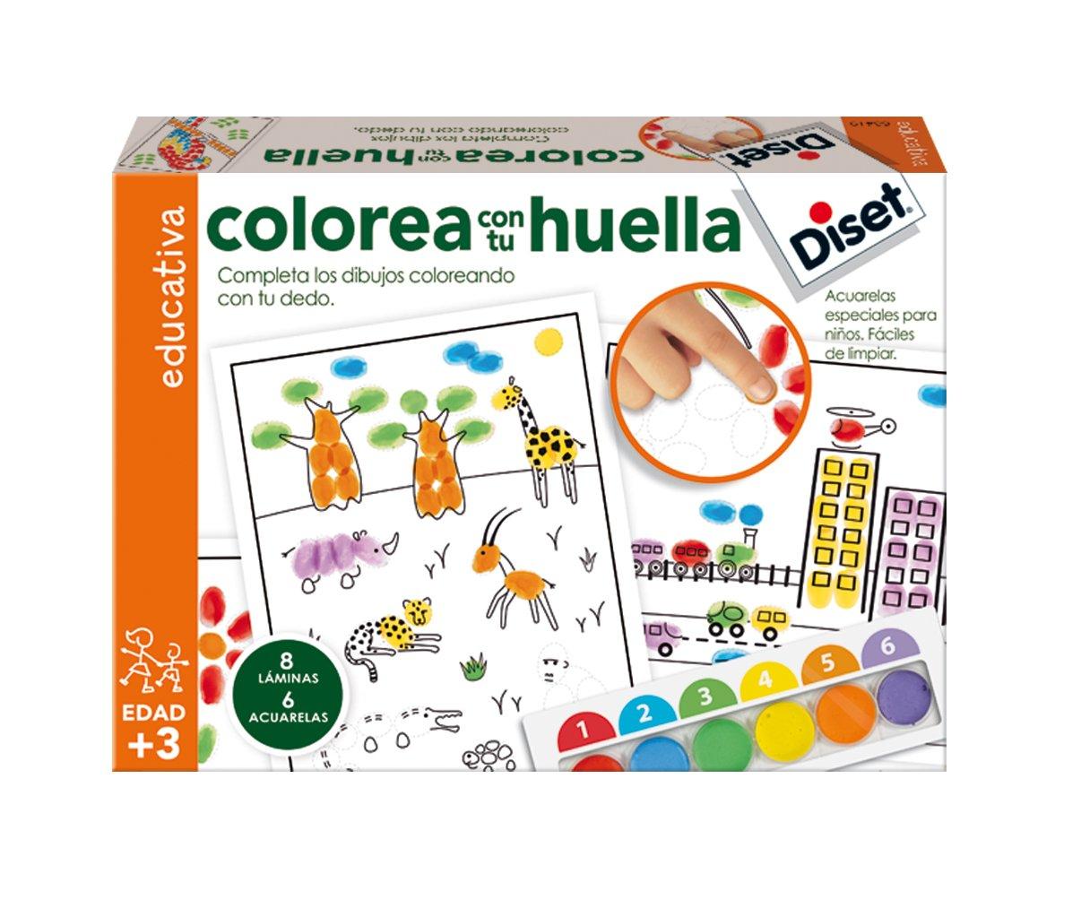 Diset Juego educativo para niños para colorear con su huella y aprender los colores: Amazon.es: Juguetes y juegos