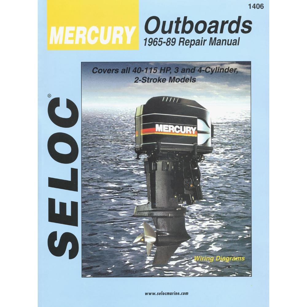 Mercury Outboard Vol 2 3 4 Cylinder 1965 1989 Repair 65 Hp Motor Wiring Diagram Manual Motors Sports Outdoors