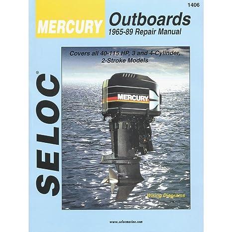 amazon com mercury outboard vol 2 3 4 cylinder 1965 1989 repair rh amazon com mercury outboard motor repair manual pdf mercury mariner outboard motor repair manuals
