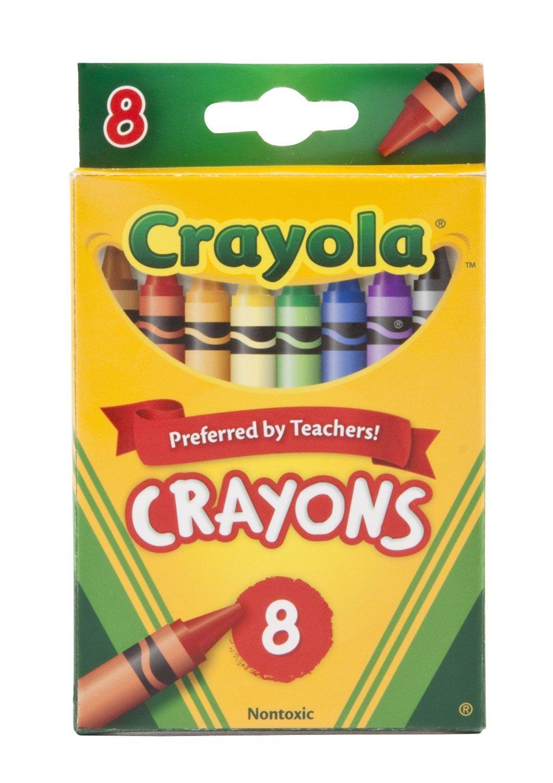 Crayola Crayons, 8 Count (Case of 48) 52-3008
