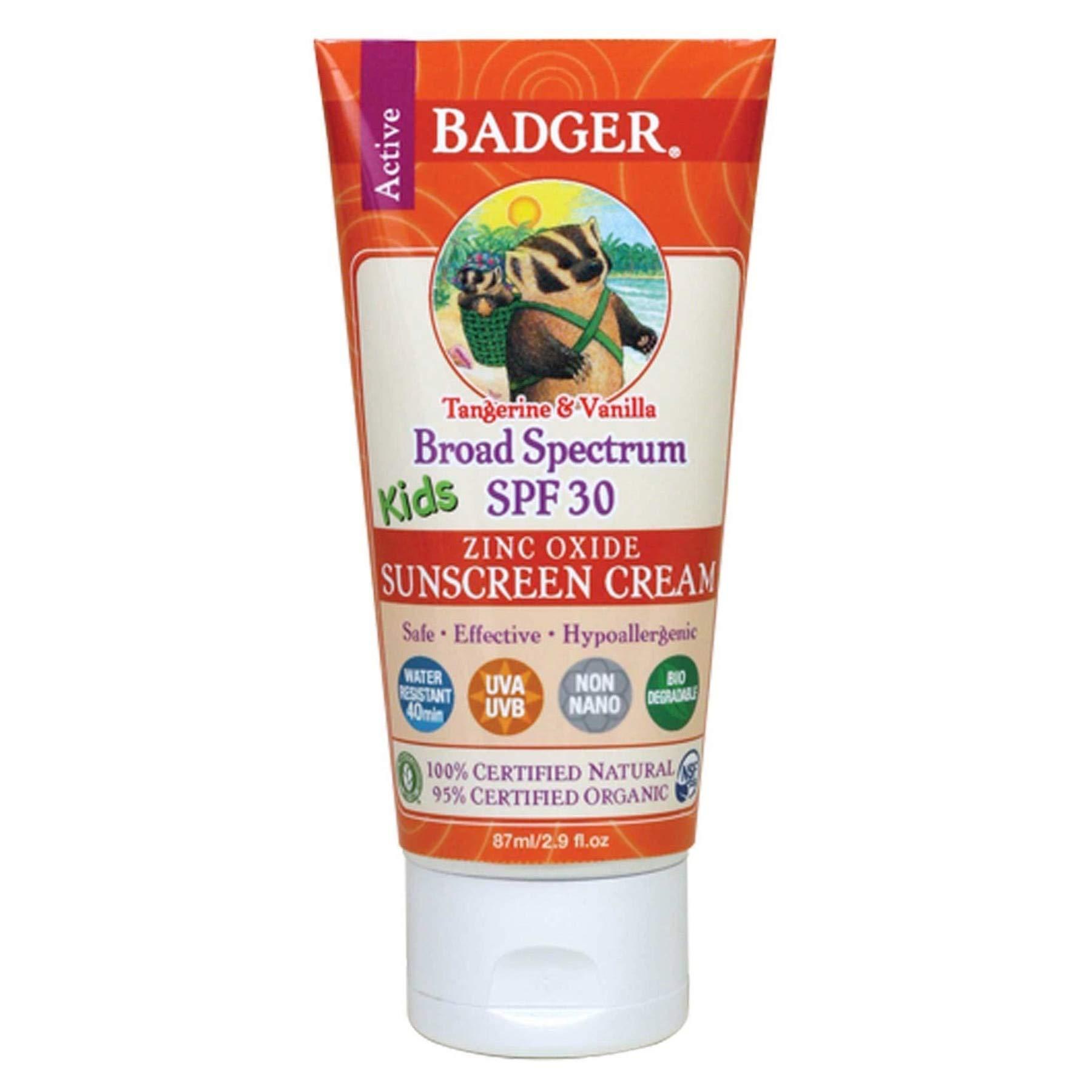 Badger Broad Spectrum SPF 30 Kids Sunscreen Tangerine & Vanilla 2.9oz (6-Pack) by Badger (Image #2)