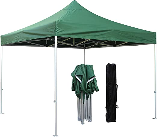 Airwave 3x3m Waterproof Green Pop Up Gazebo Frame /& Canopy Marquee Tent No Sides