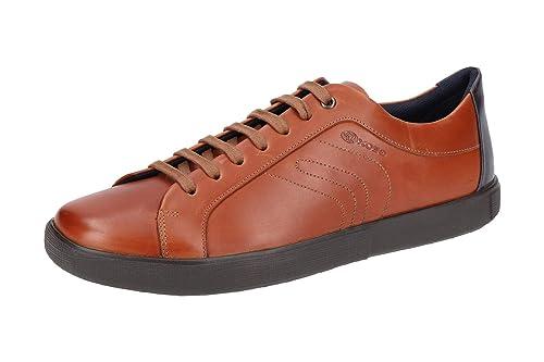 fef69d28297 Geox Men's U845MA 00043 C6001 Classic Lace-Up Half Shoe Brown Size: 6.5 UK