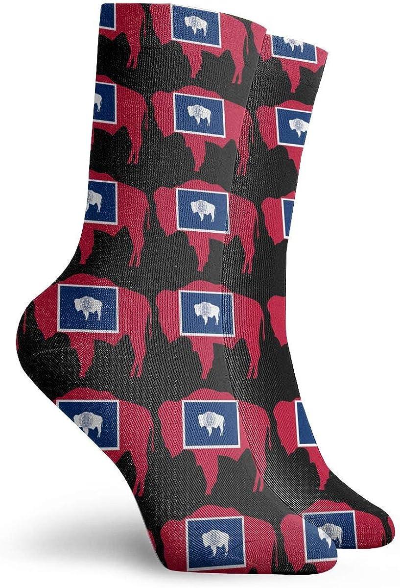 Flag Of Wyoming Socks,Dress Socks Funny Socks Crazy Socks Casual Crew Socks