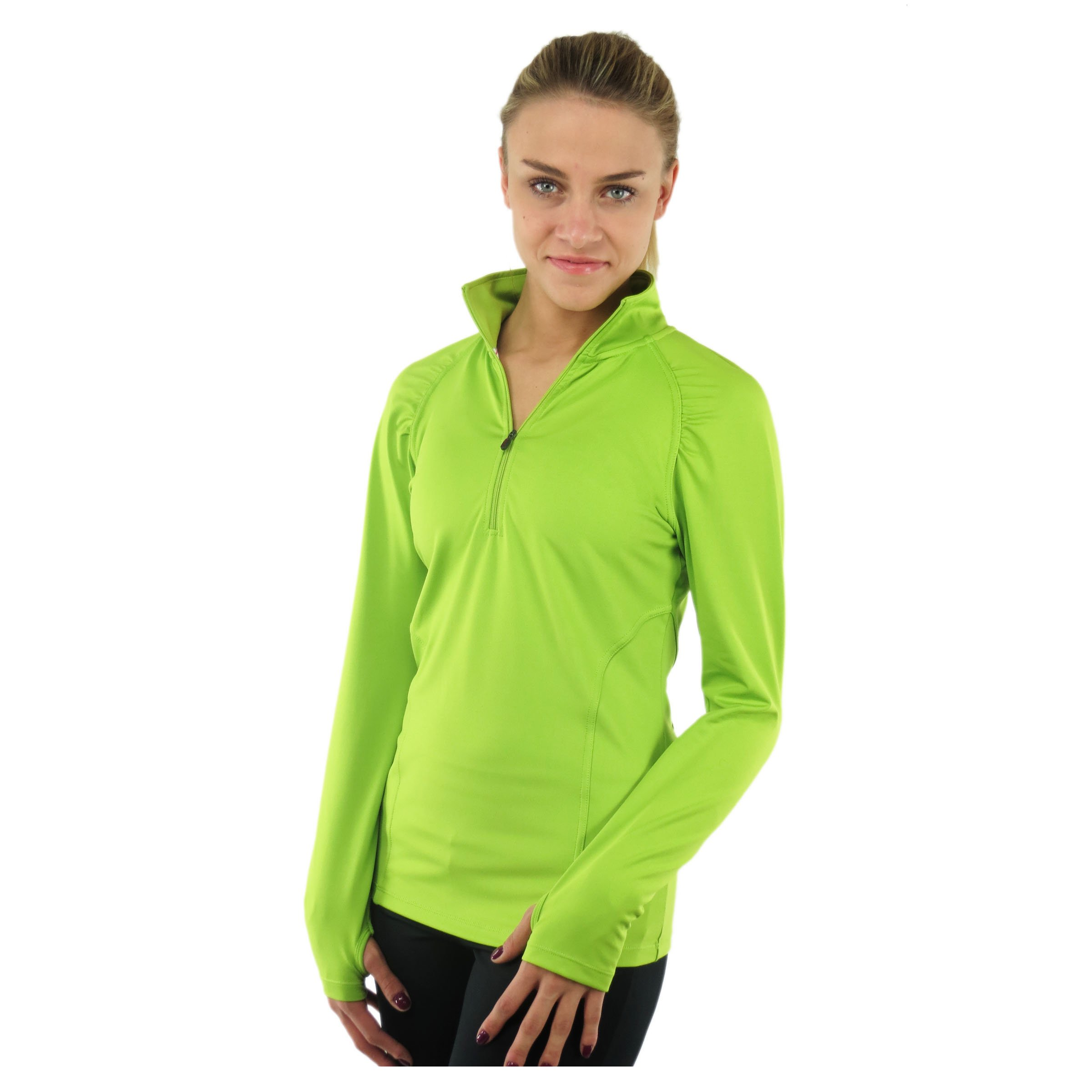 Alex + Abby Women's Essential Pullover Small Lime