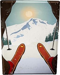 Blechschild Fun Ski fahren
