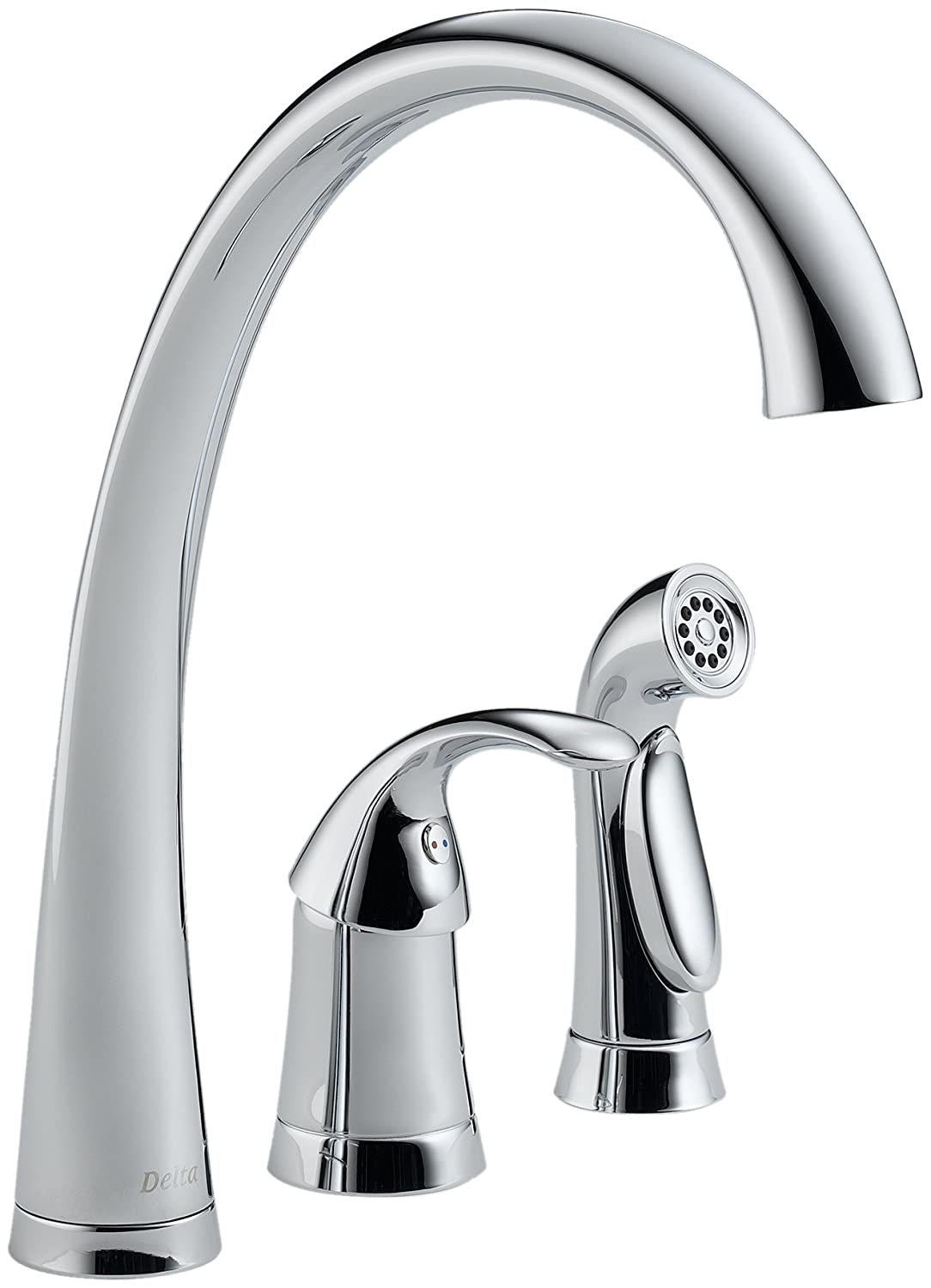 Delta 4380-DST Pilar Single-Handle Widespread Kitchen Faucet with ...