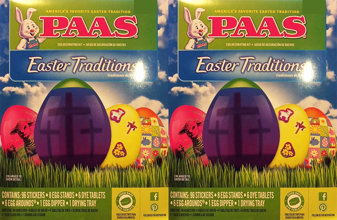 Amazon.com : PAAS Easter Traditions Egg Dye Kit 2-Pack : Grocery & Gourmet Food