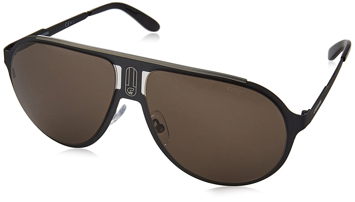Carrera Champion/MT NR 003 Gafas de sol, Negro (Matt Black/Brown Grey), 61 Unisex-Adulto