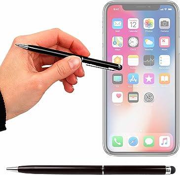 DURAGADGET Lápiz Stylus Negro + Bolígrafo (2 En 1) para Smartphone Apple iPhone 8 | Plus | X (2017): Amazon.es: Electrónica