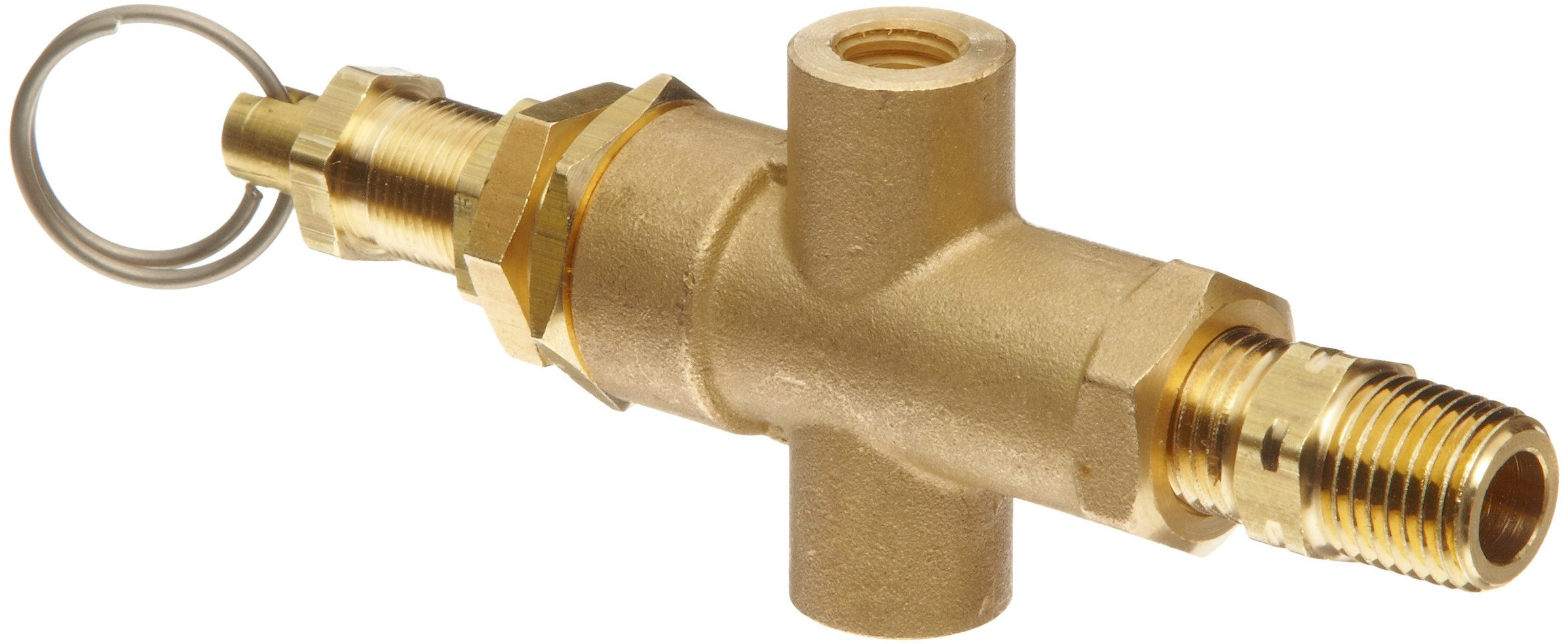 Control Devices Brass Pilot Valve with Adapter, 1/4'' x 1/8'' Female NPT