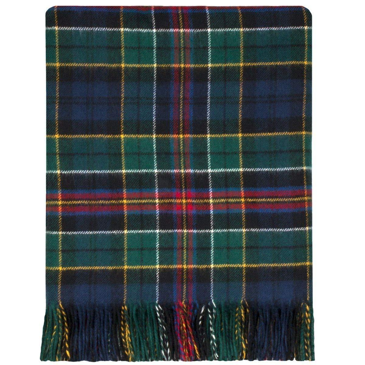 Lochcarron Allison Decke, 100% Lammwolle, modernes Schottenkaro