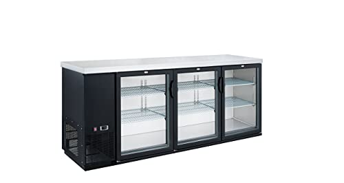 Dukers DBB72-H3 19.1 cu. ft. 3 Door Bar and Beverage Cooler