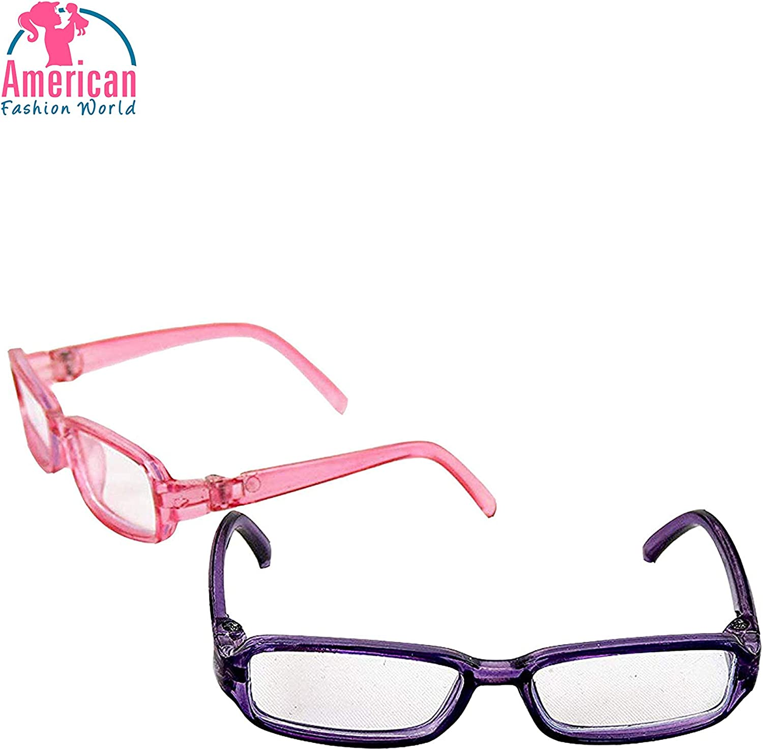 Fashion Pink Glasses Eyeglasses for 18inch American Doll Accessories Pink