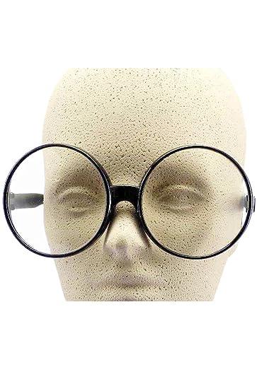 f12748bff3 Amazon.com  Forum Novelties Big Round Eye Glasses - Black  Toys   Games