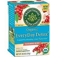Traditional Medicinals Organic EveryDay Detox Schisandra Berry Detox Tea, 16 Tea Bags (Pack of 6)