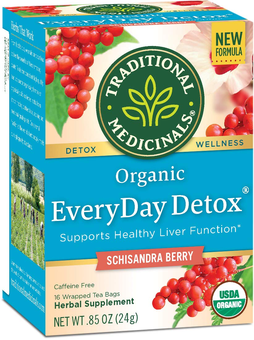 Traditional Medicinals Organic EveryDay Detox Tea, 16 Tea Bags (Pack of 6) by Traditional Medicinals