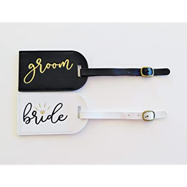 Bride and Groom Luggage Tags Mr and Mrs Luggage Tags Honeymoon Luggage Tags Bridal Shower Gift