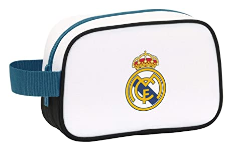 Real Madrid 811754234 - Neceser 22cm, Blanco