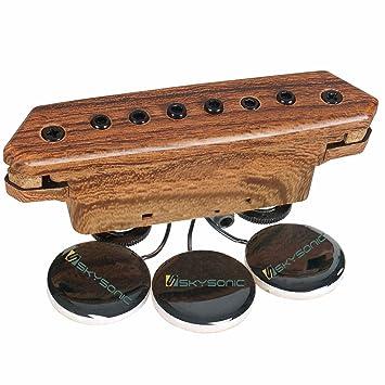 skysonic a-910 - Pastilla para guitarra acústica eléctrica transductor para guitarra acústica, Pasivo pastilla magnética/contacto micrófono sonido agujero: ...