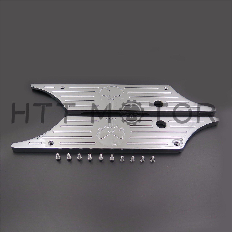 HTTMT SLC001-H CNC Hard Billet Aluminum Saddlebag Latch Cover Wheel Compatible with Harley Touring 93-13