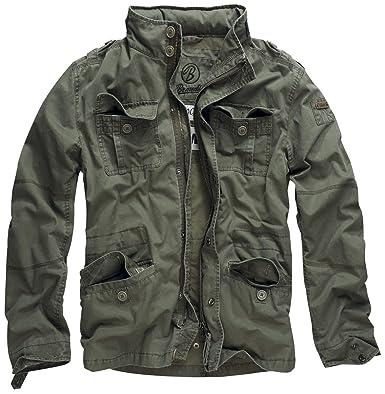 5fce9973dd861 Brandit Britannia Jacket Between-Seasons Jacket Olive: Amazon.co.uk ...