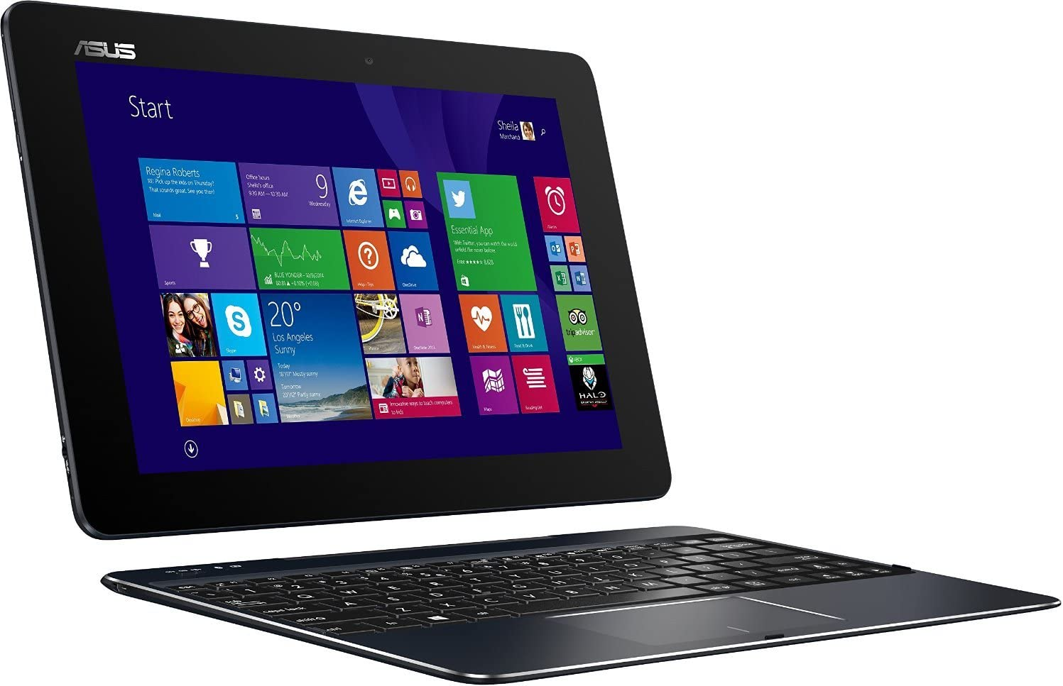 "Asus Transformer Book T100-CHI-C1-BK(M) - 10.1"" 2-in-1 Laptop/Tablet Combo - Intel Atom Z3775/2GB RAM/64GB eMMC/Intel HD Graphics/Windows 8.1 - Dark Blue"