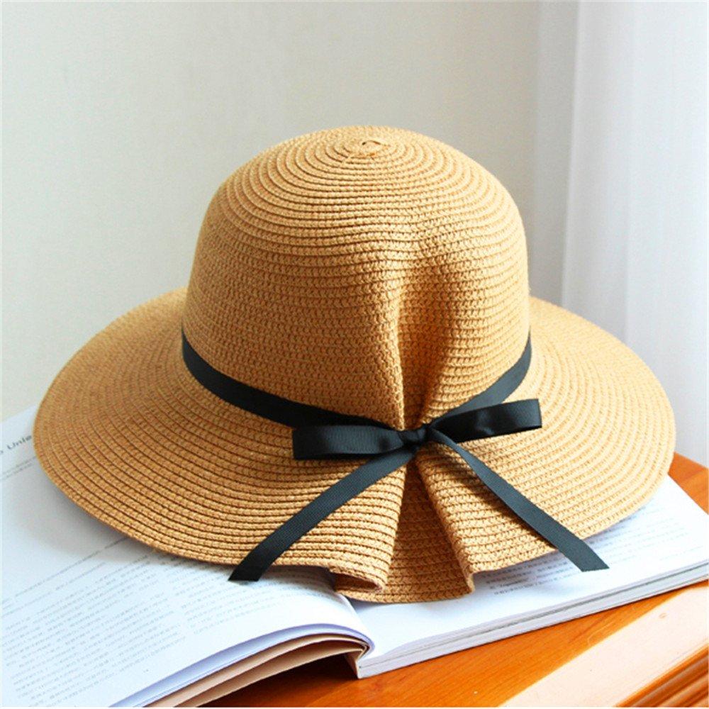Sombrero de Jipijapa de Paja Verano Primavera Plegable Mujer Niñas DH1096A fc79a5df000