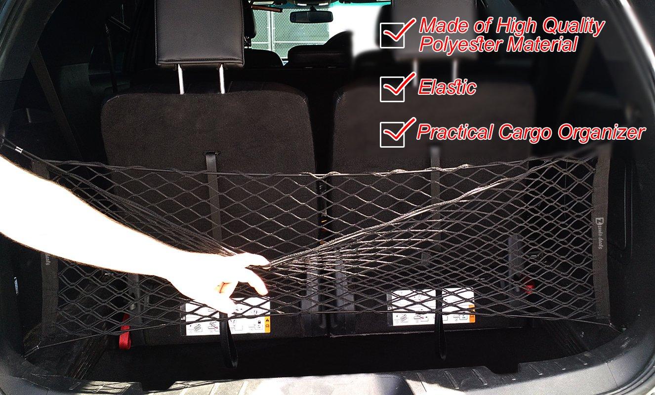 Zento Deals Black Mesh Net Cargo Trunk Storage Organizer NE3