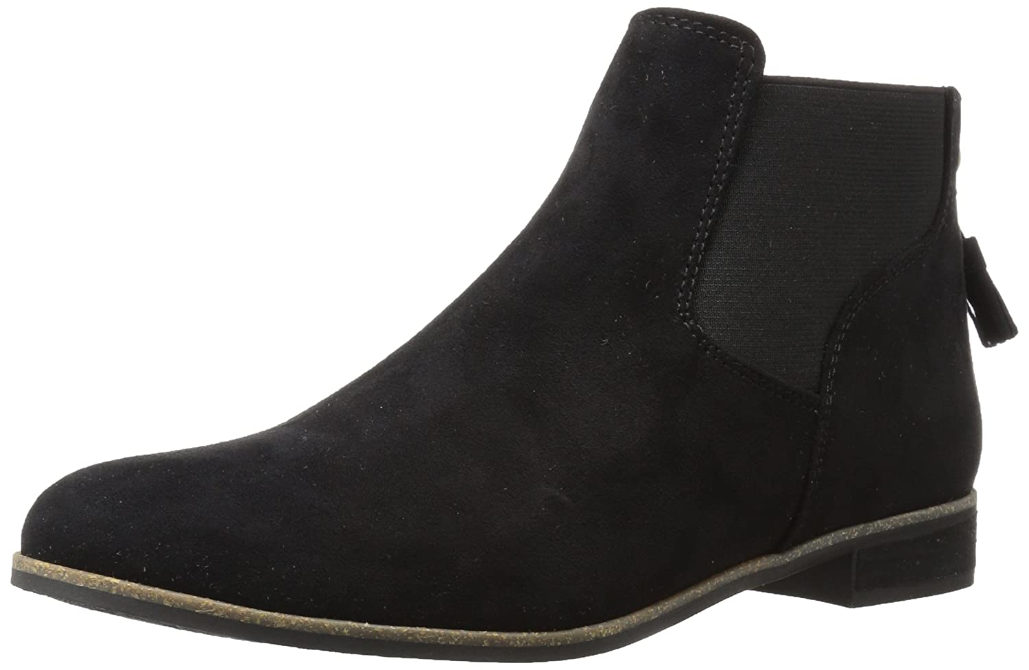 Dr. Scholl's Shoes Women's Resource Boot B06Y1JQG9J 7.5 B(M) US|Black Microfiber