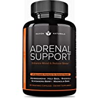 Adrenal Support - Natural Adrenal Fatigue Supplements, Cortisol Manager with Ashwagandha Extract, Rhodiola Rosea, Holy…