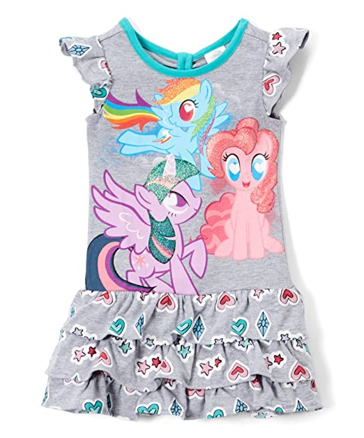 Amazon.com: My Little Pony vestido de volantes para niña ...