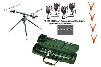 Aluminium Rod Pod Behr Rutenhalter Rutenauflage Angeln mit Tasche NEU