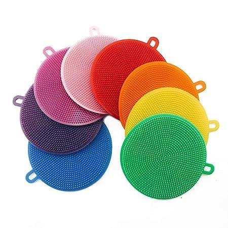 Stonges 10Pcs Silikon Dish Washing Scrubber, Küche Schwämme, Lebensmittelqualität Antibakterielle Dish Scrub für Pan Pot Gemü