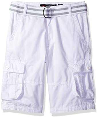 5cc11bb9d1 Amazon.com: Southpole Boys' Belted Mini Canvas Cargo Shorts in Various  Colors: Clothing