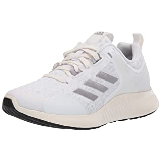adidas Women's Edgebounce 1.5 Running Shoe, White/tech Silver Metallic/Chalk White, 11 M US