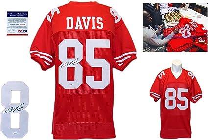 Amazon.com: Vernon Davis Signed Custom Jersey - PSA/DNA ...